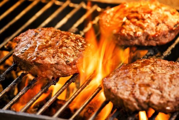 Magnettafel Pinnwand XXL Bild Grillen Burger Fleisch Pattys