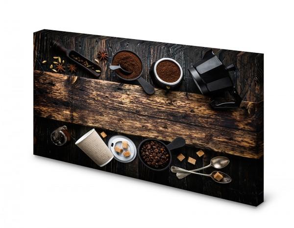 Magnettafel Pinnwand Bild Espresso Kaffee Barista XXL gekantet