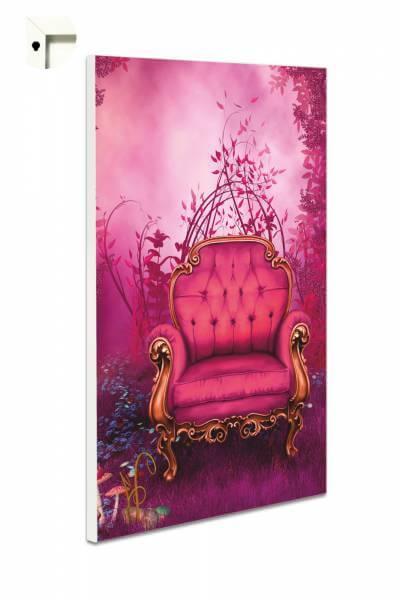 Magnettafel Pinnwand Fantasy Märchensessel in pink