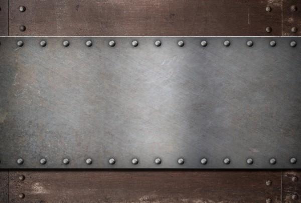 Magnettafel Pinnwand XXL Metall Stahlhintergrund Rost Nieten