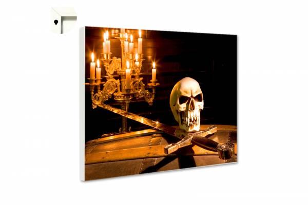 Magnettafel Totenkopf und Schwert