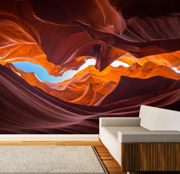 Vlies Tapete Poster XXL Fototapete 3D Effekt Natur Höhle Wüste Sand