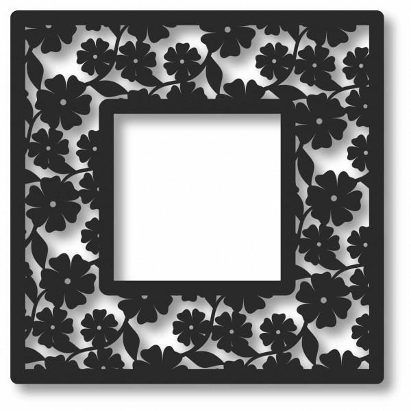 Bild Wandbild 3D Wandtattoo Acryl Rahmen Blumen Blumenmuster