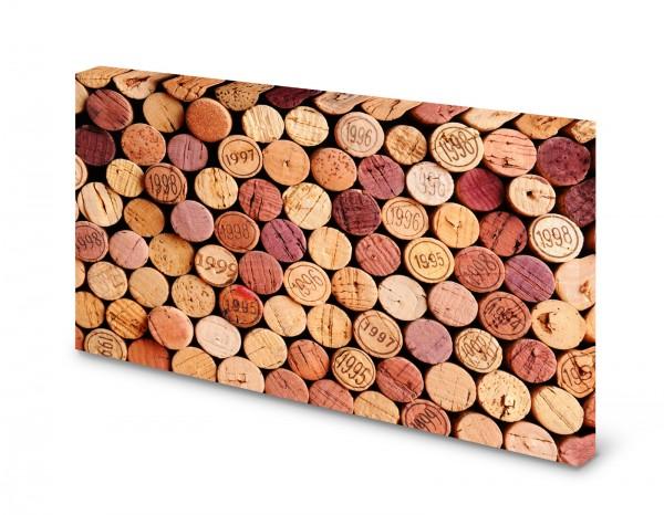 Magnettafel Pinnwand Bild Rotwein Wein Korken XXL gekantet