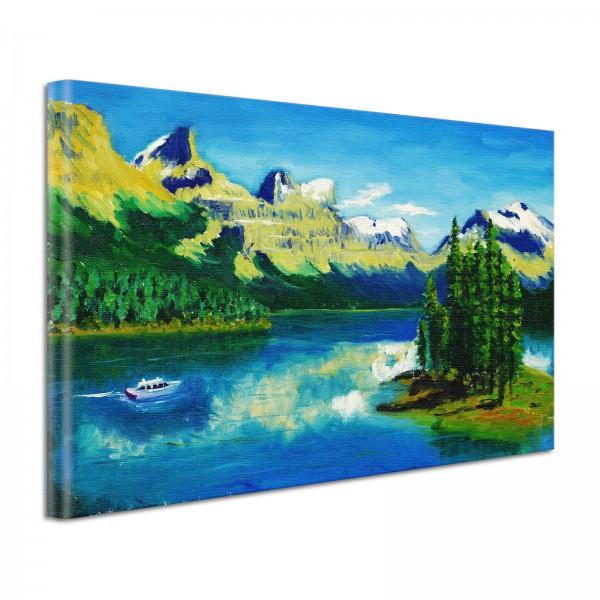 Leinwandbild Gemälde Berge