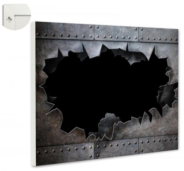Magnettafel Pinnwand Magnetwand Metalloptik Stahl Loch