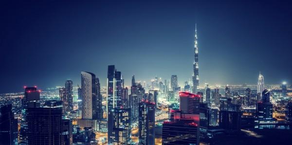 Magnettafel Pinnwand Bild XXL Panorama Dubai Skyline