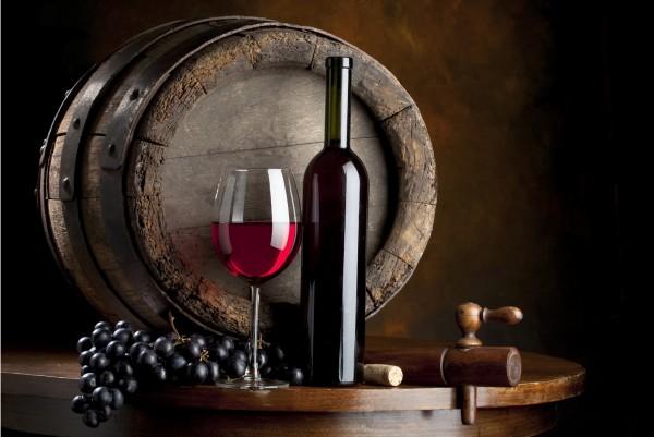 Magnettafel Pinnwand XXL Bild Rotwein Wein Fass Restaurant