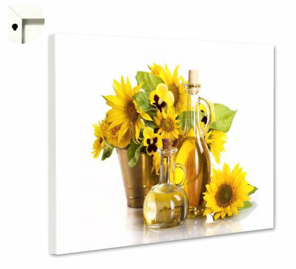 Magnettafel Pinnwand Blumen Natur Sonnen Blumen Öl