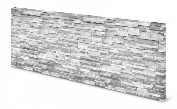Magnettafel Pinnwand Bild Steinmauer Mauer Steine weiß gekantet