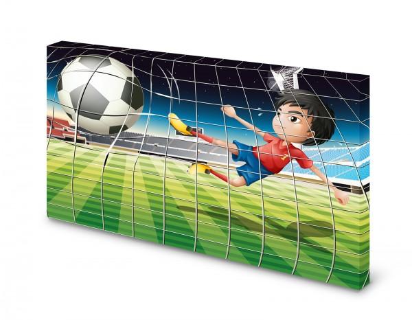 Magnettafel Pinnwand Bild Fußball Tor XXL gekantet