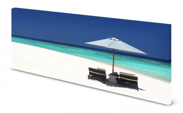 Magnettafel Pinnwand Bild Karibik Strand Meer türkis gekantet