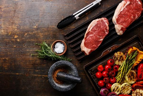Magnettafel Pinnwand Bild Holzbrett Fleisch Steak Küche