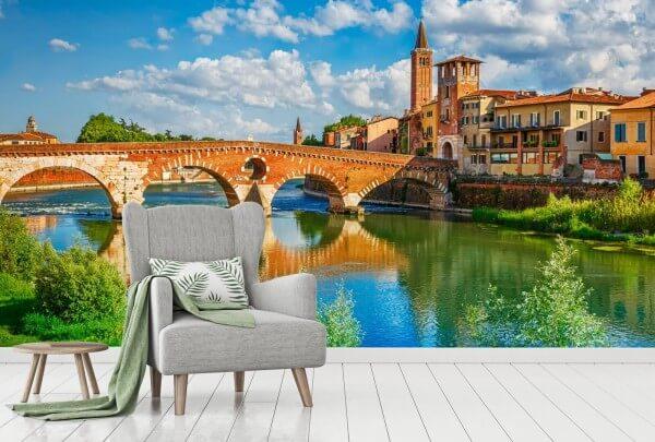 Vlies Tapete XXL Poster Fototapete Landschaft Italien Sommer
