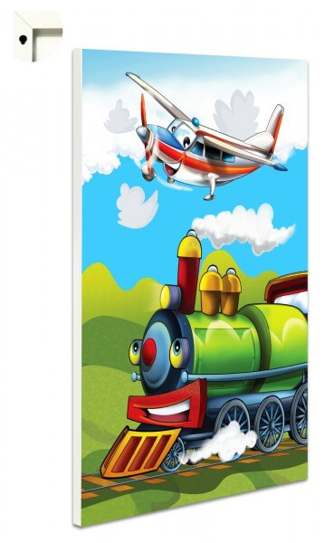 Magnettafel Pinnwand Kinder Flugzeug & Eisenbahn