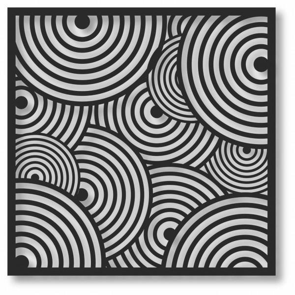 Bild Wandbild 3D Wandtattoo Acryl Mobile Muster Abstrakt Kreise Zirkel