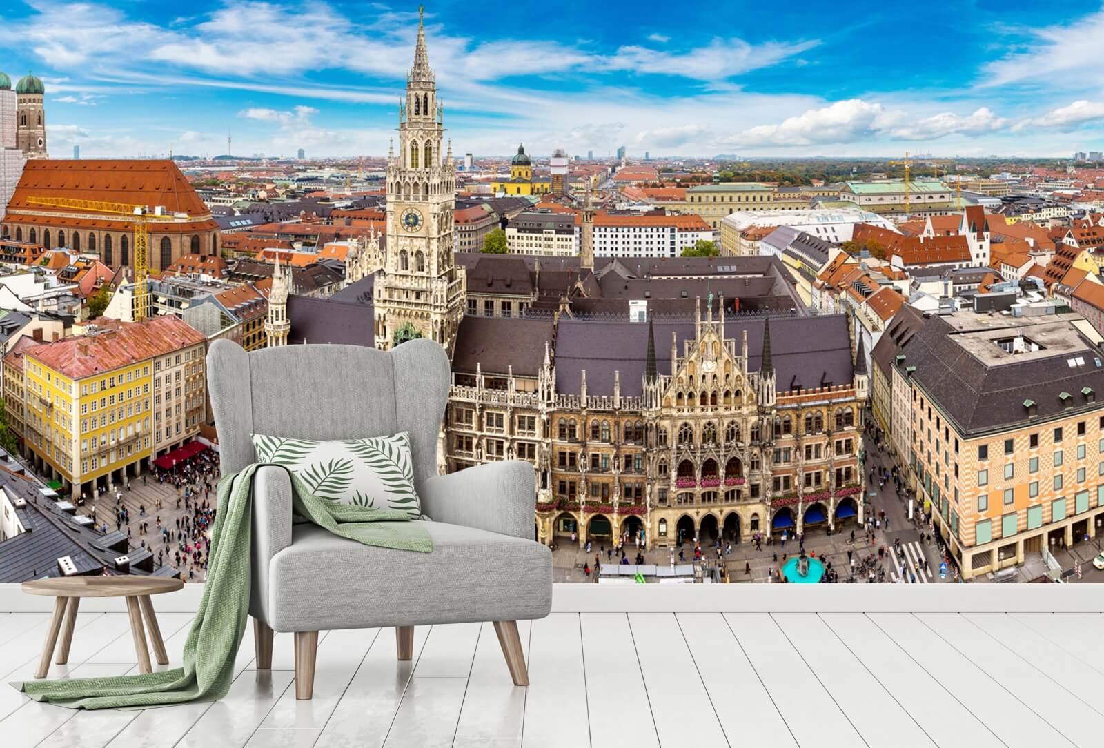 Vlies Tapete XXL Poster Fototapete Bayern München Marienplatz