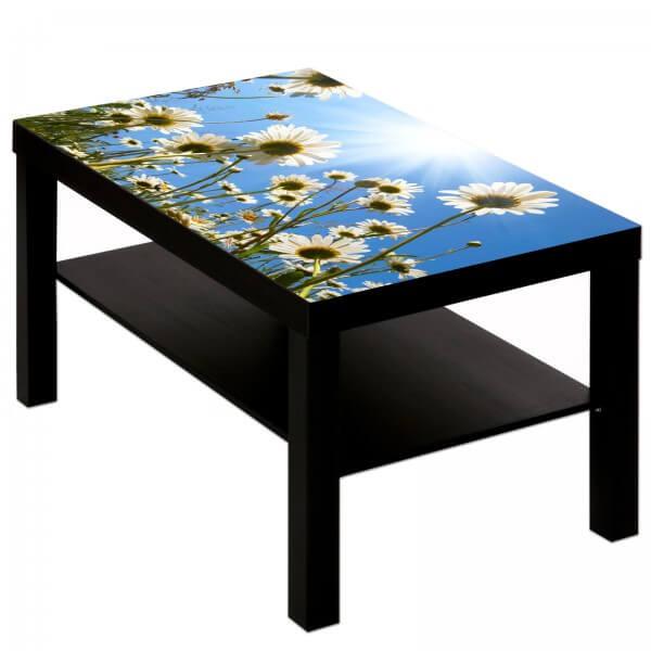 Couchtisch mit Motiv Natur & Blumen Margeriten im blauem Sommerhimmel
