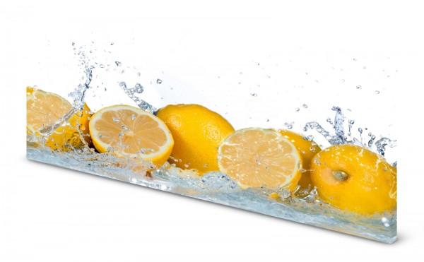 Magnettafel Pinnwand Bild Küche Zitrone Zitronen gelb gekantet