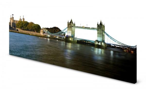 Magnettafel Pinnwand Bild Panorama London Tower Bridge gekantet