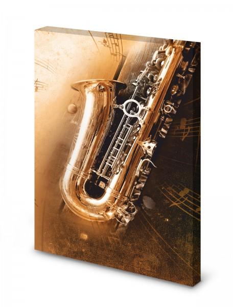 Magnettafel Pinnwand Bild Saxophon Musik XXL gekantet