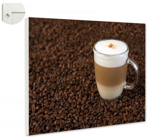 Magnettafel Pinnwand Magnetwand Latte Macchiato Kaffeebohnen Café