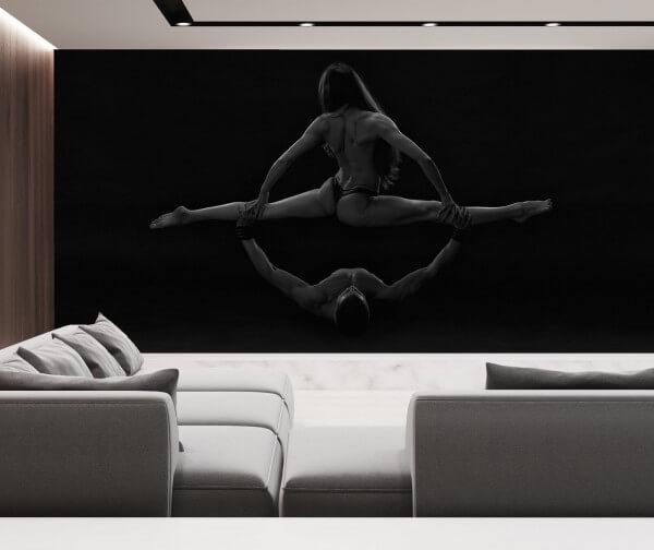 Vlies Tapete XXL Poster Fototapete Panorama Erotik Fitness Kunst