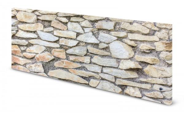 Magnettafel Pinnwand Bild Natursteine Naturstein weiß beige gekantet