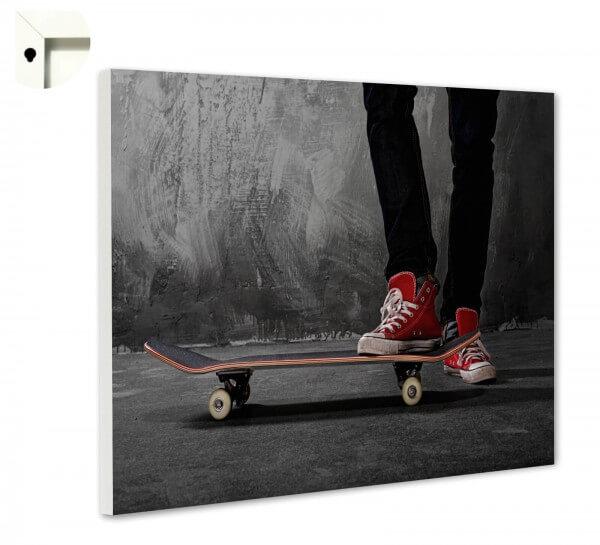 Magnettafel Pinnwand Skateboard & Chucks