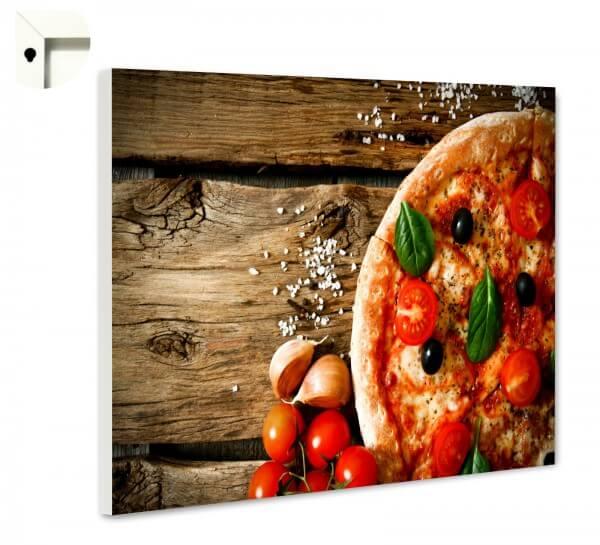 Magnettafel Pinnwand Küche Pizza Rustikal auf Holz