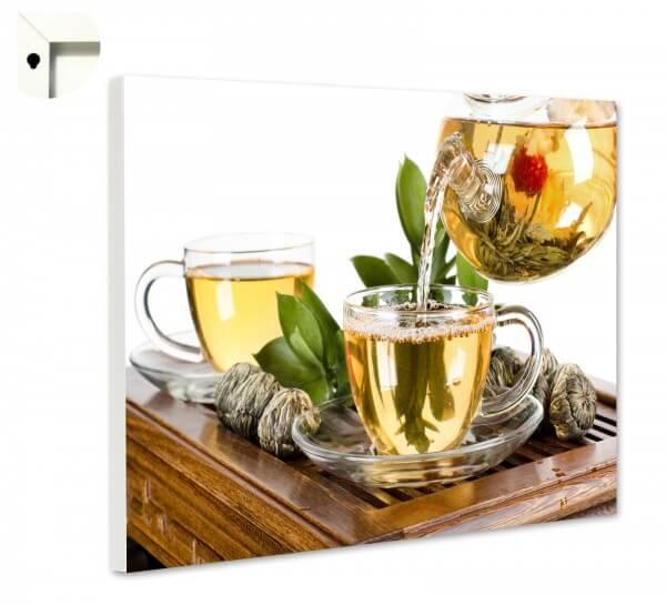 Magnettafel Pinnwand mit Motiv Küche Tee Zeremonie mit Teeblume