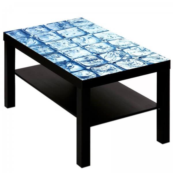 Couchtisch Tisch mit Motiv Bild Eis Würfel 2