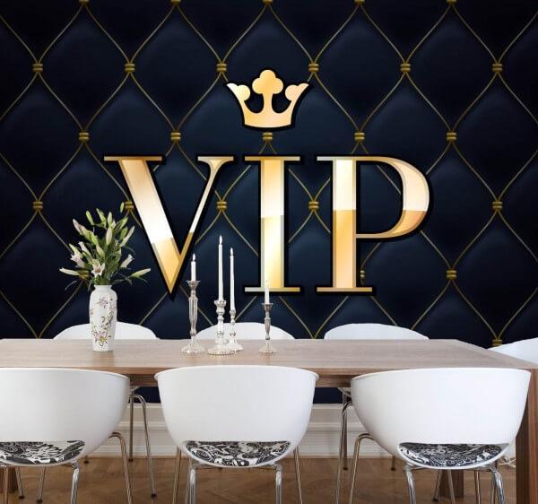 Vlies XXL-Poster Fototapete Tapete Muster VIP in schwarz gold