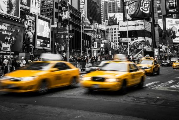 Magnettafel Pinnwand XXL Magnetbild New York Taxi