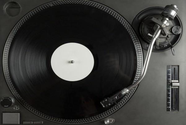Magnettafel Pinnwand XXL Bild Plattenspieler DJ