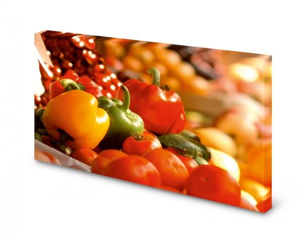 Magnettafel Pinnwand Bild Paprika bunt Küche XXL gekantet
