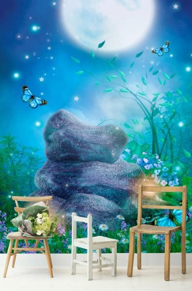 Vlies Tapete Poster Fototapete Fantasy Landschaft blau türkis