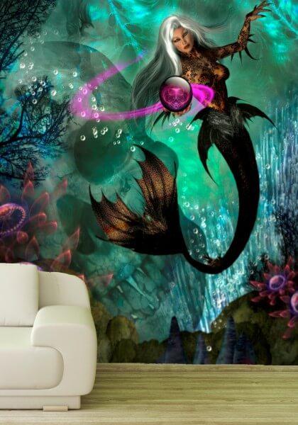 Poster Fototapete Fantasy Meerjungfrau