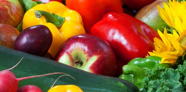 Magnettafel Pinnwand Bild XXL Panorama Gemüse Obst Paprika