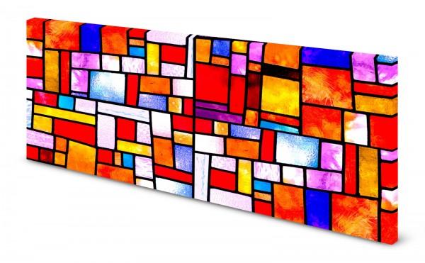 Magnettafel Pinnwand Bild Glas Glasmuster Kirchenglas Abstrakt bunt gekantet