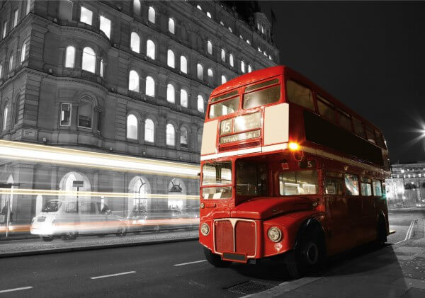 Poster Fototapete Städte London Big Red Bus