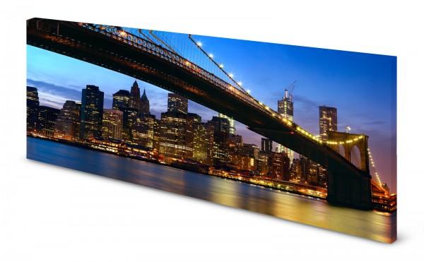 Magnettafel Pinnwand Bild New York Golden Gate Bridge gekantet