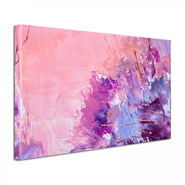 Leinwandbild Gemälde Abstrakt Violett