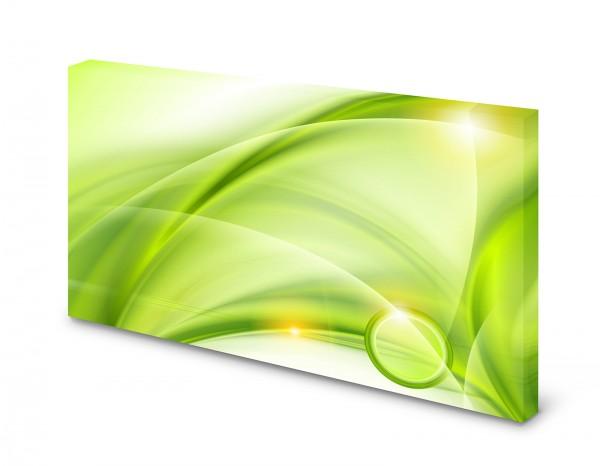 Magnettafel Pinnwand Bild Muster grün weiß XXL gekantet
