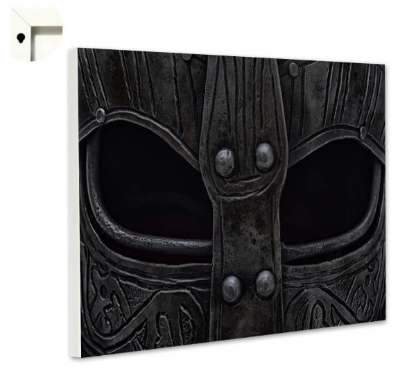Magnettafel Pinnwand Wikinger Vikings Helm schwarz