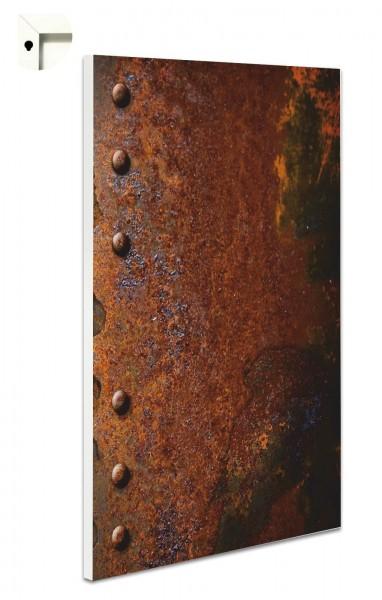 Magnettafel Pinnwand Rost Metall Nieten