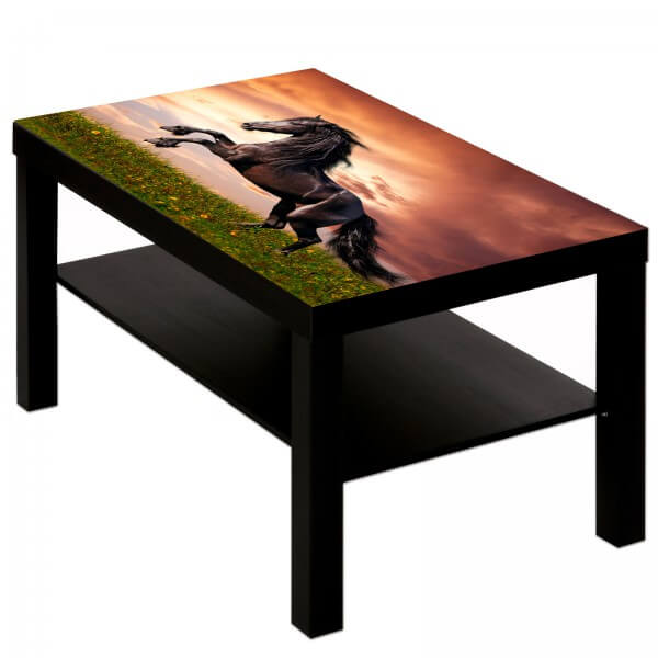 Couchtisch Tisch mit Motiv Tiere Pferd 2