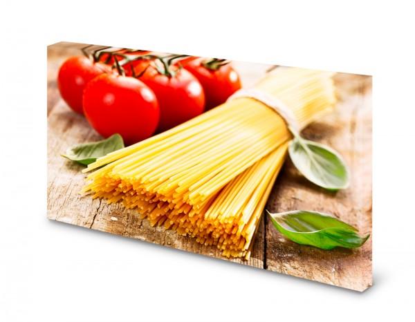 Magnettafel Pinnwand Bild Nudeln Spaghetti Tomaten Küche gekantet
