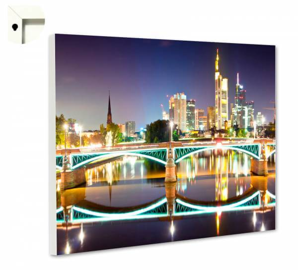 Magnettafel Pinnwand mit Motiv Frankfurt Skyline
