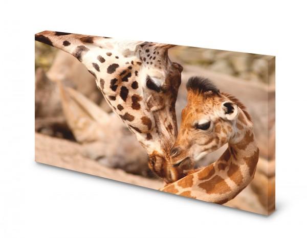 Magnettafel Pinnwand Bild Giraffe Mutter Kind XXL gekantet
